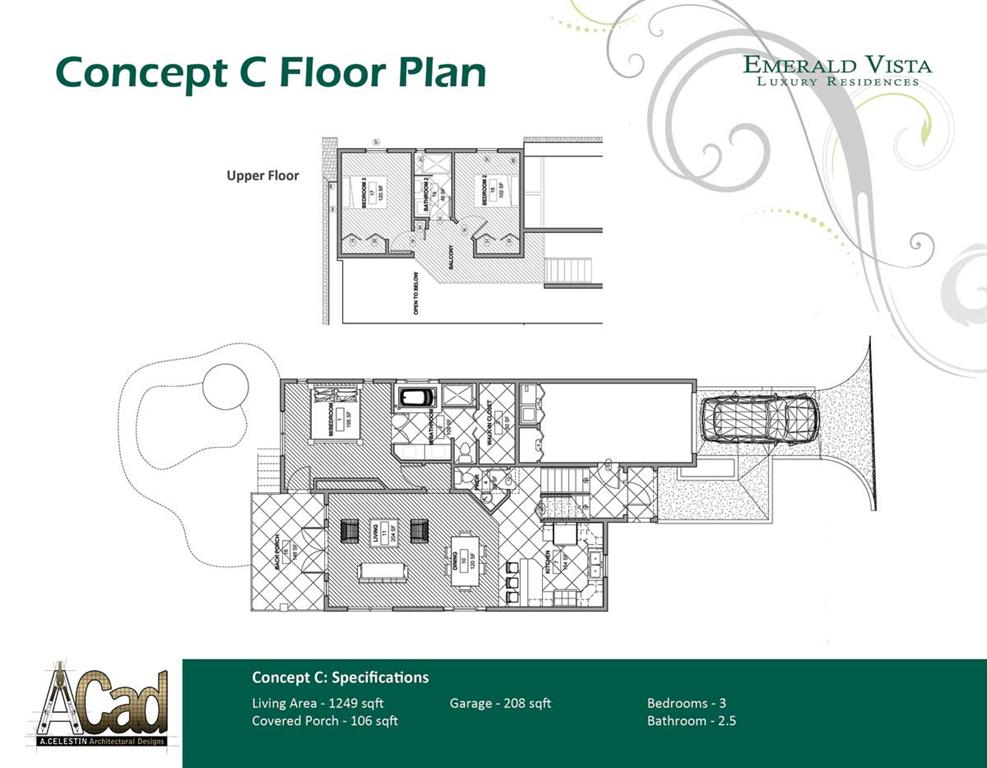 Emerald Vista St Lucia Floor Plan