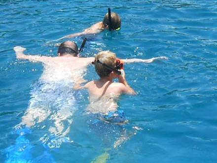 Snorking in St Lucia