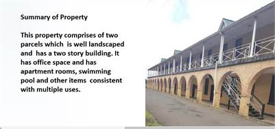 2 Storey Commercial Building For Sale on The Morne Castries
