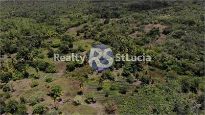 10 Acres of Flat Land for Sale Vege, Vieux-Fort