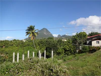 Land for sale in Choisuel St Lucia with viewsof Gros Piton